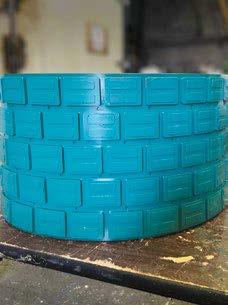 Polyurathane rubber backed lagging