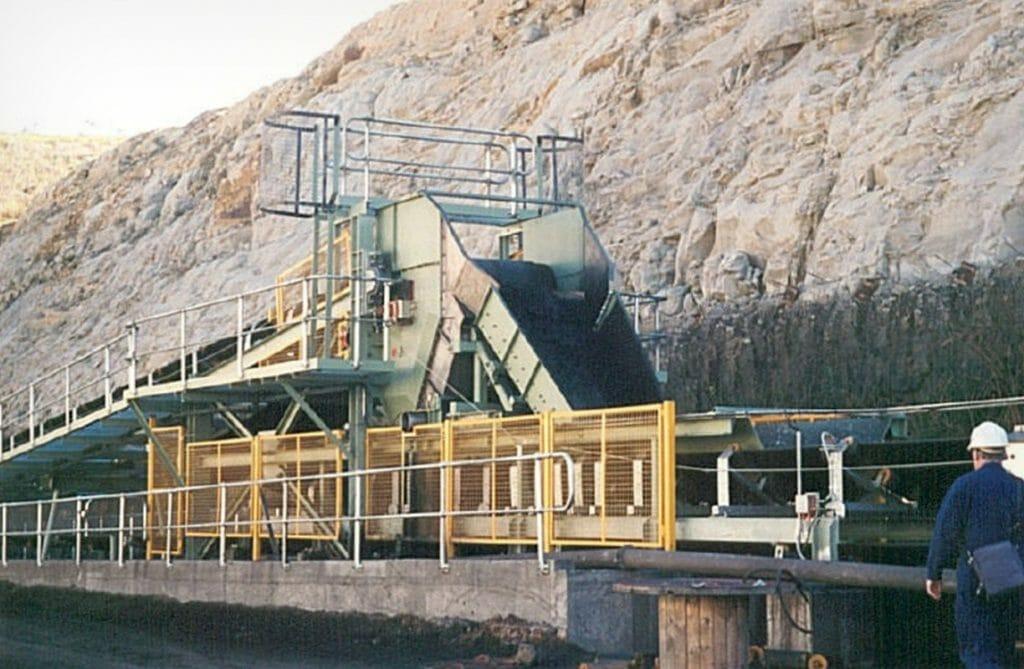 brain industries conveyor dewatering system in operation