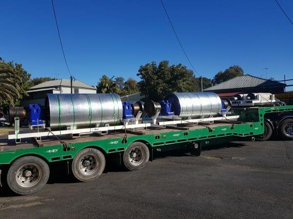 Brain Industries Conveyor pulleys being delivered
