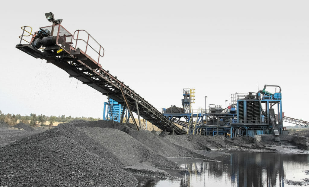 a photo of coal