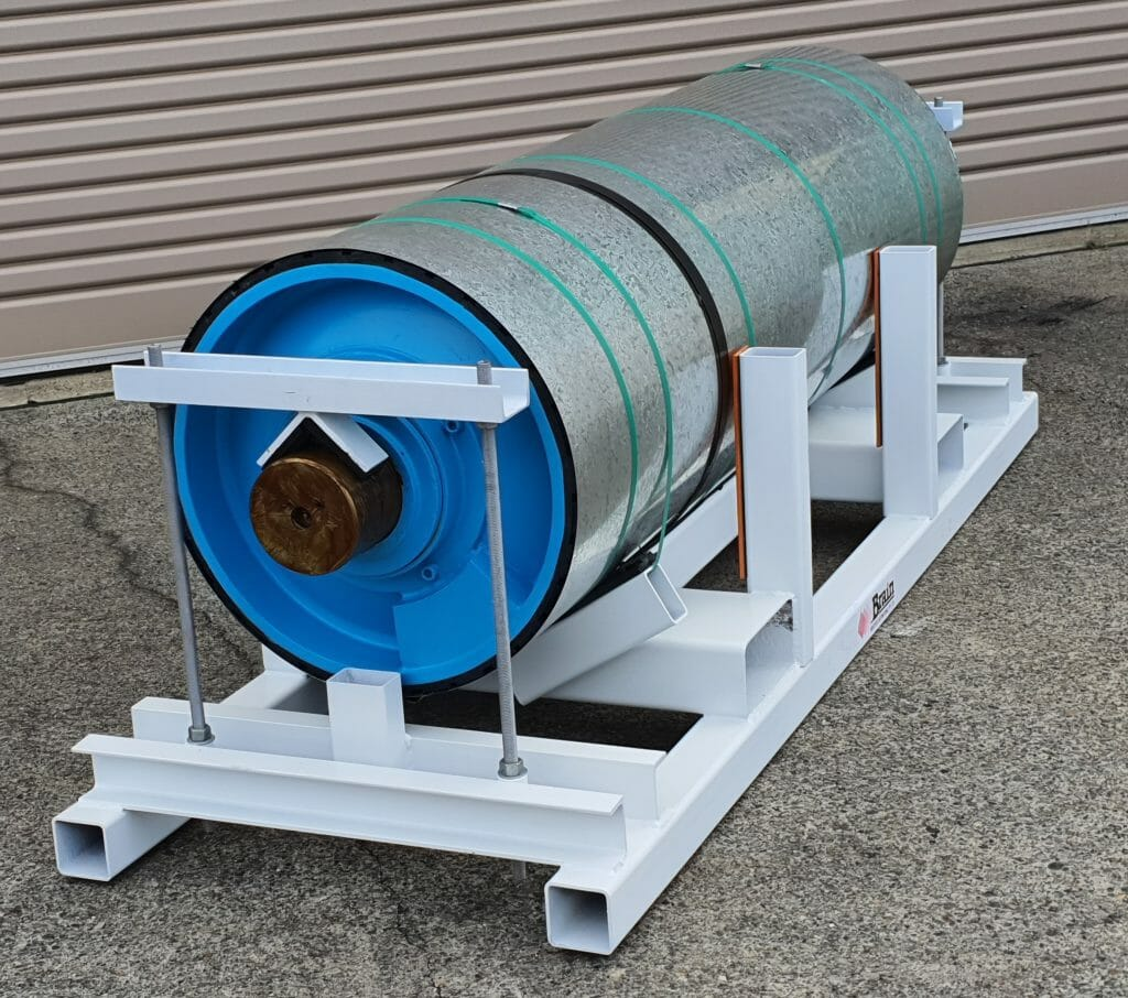 Mine conveyor pulley has been refurbsihed by Brain Industries