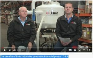 Q & A with Paul Harrison on the benefits of Brain Industries' pneumatic industrial pumps