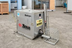 You can hire or buy a portable and powerful Mudskipper pump from Brain Industries