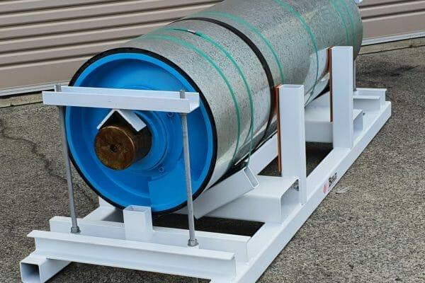 Mine conveyor pulley has been refurbsihed by Brain Industries